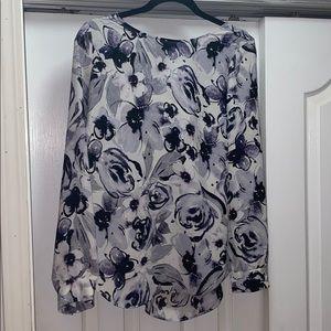 Rose & Olive floral print long sleeve blouse
